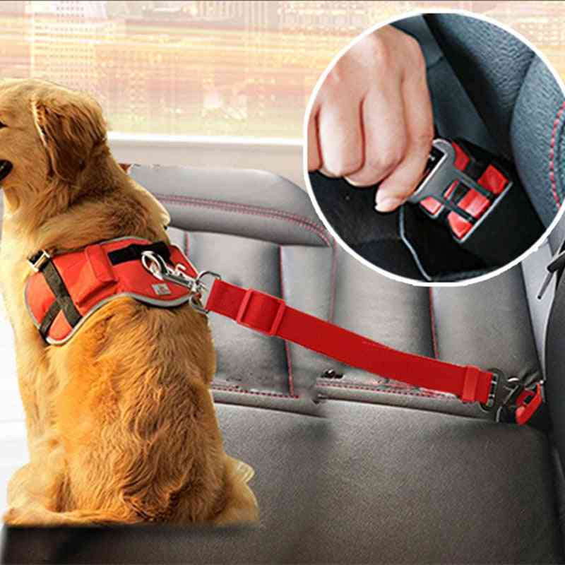 Dog Seat Belt Puppy Car Seatbelt Harness Lead Clip Pet Dog Supplies Safety Lever Auto Traction