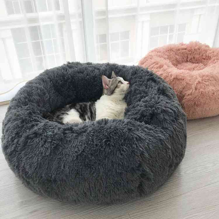 Soft Round Shape, Warm Sleeping Bed For Pets