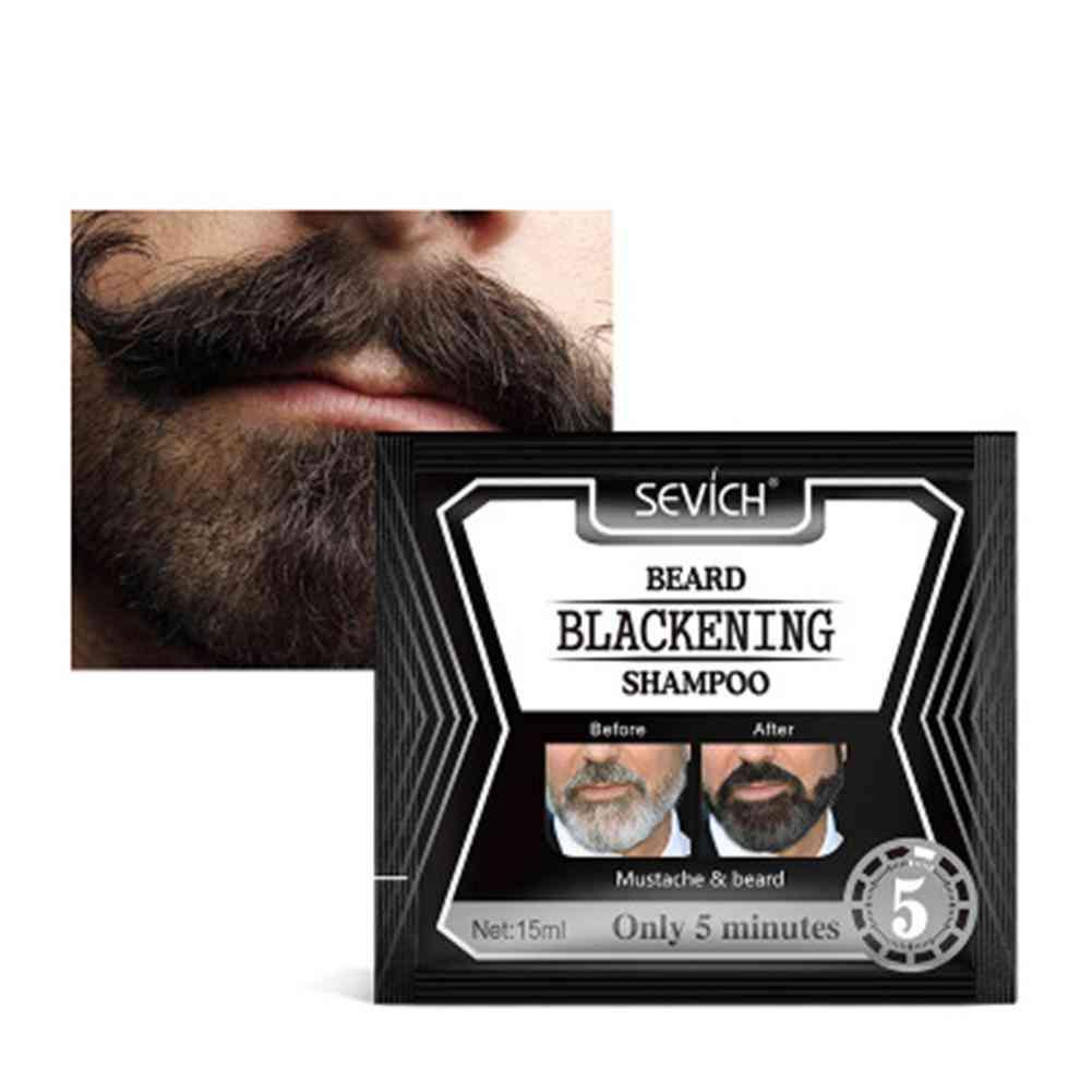 Black Beard Shampoo Beard Coloring Liquid