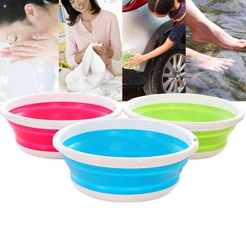 Simple Life Portable Folding Bucket - Camping, Fishing, Car Washing Tool, Kitchen, Bathroom Wash Vegetables, Fruit Portable Basin