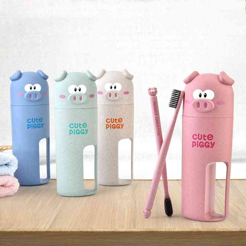 Cute Piglets Toothbrush Cups & Toothbrush Set