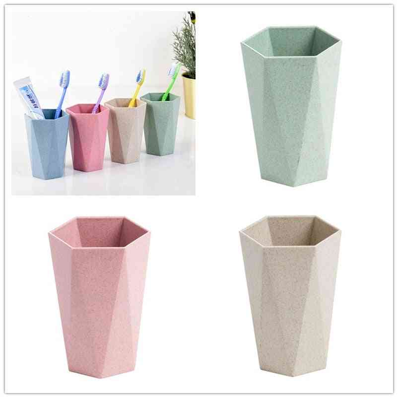 Multifunction, Creative Hexagon Shape, Mouthwash Cup-toothbrush And Toothpaste Holder