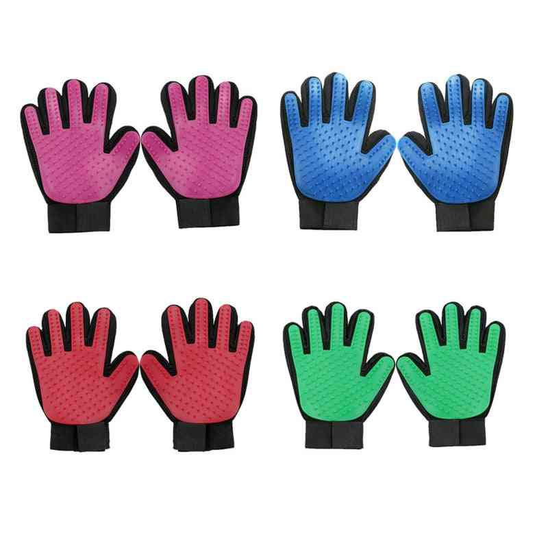 Lightweight And Washable, Multi-function Grooming Brush Gloves