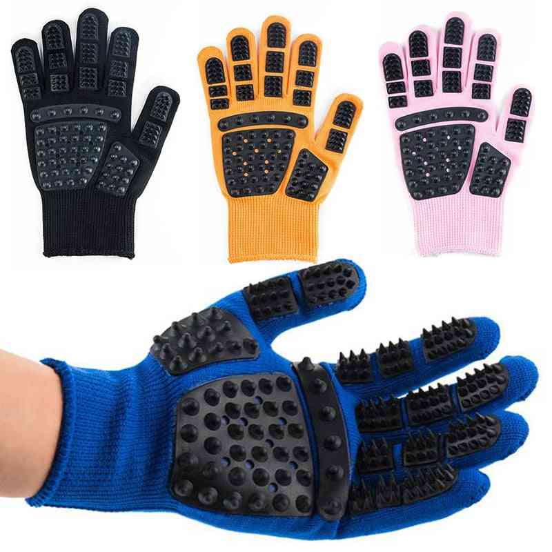 Grooming Glove For Pets - Bath, Clean, Massage And Comb