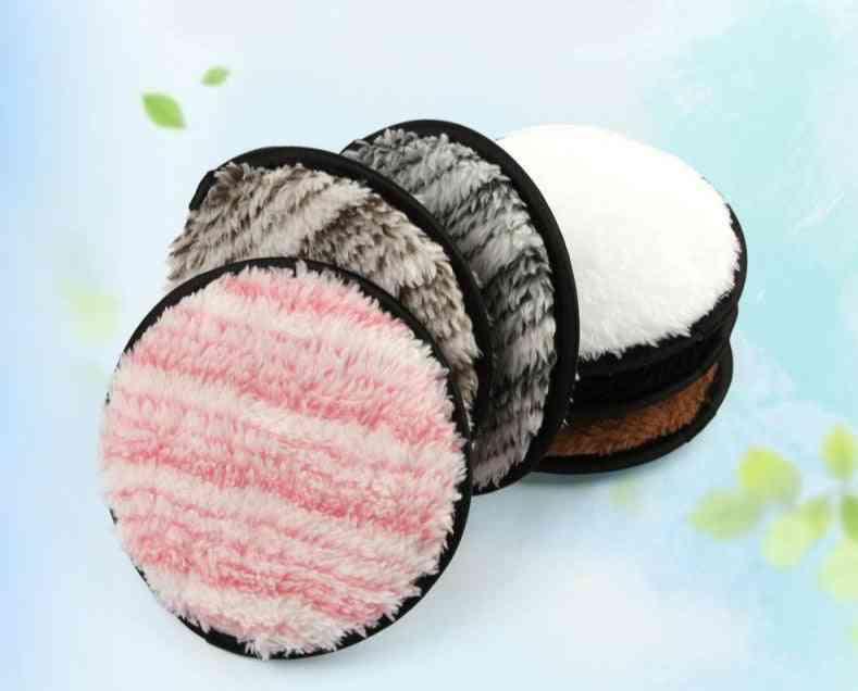 Microfiber Makeup Remover , Double Side Reusable Puff - Washable Cotton Pads