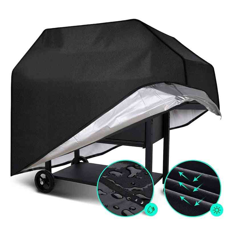 Waterproof Bbq Grill Cover - Anti Dust And Rain Barbeque  For Gas Charcoal