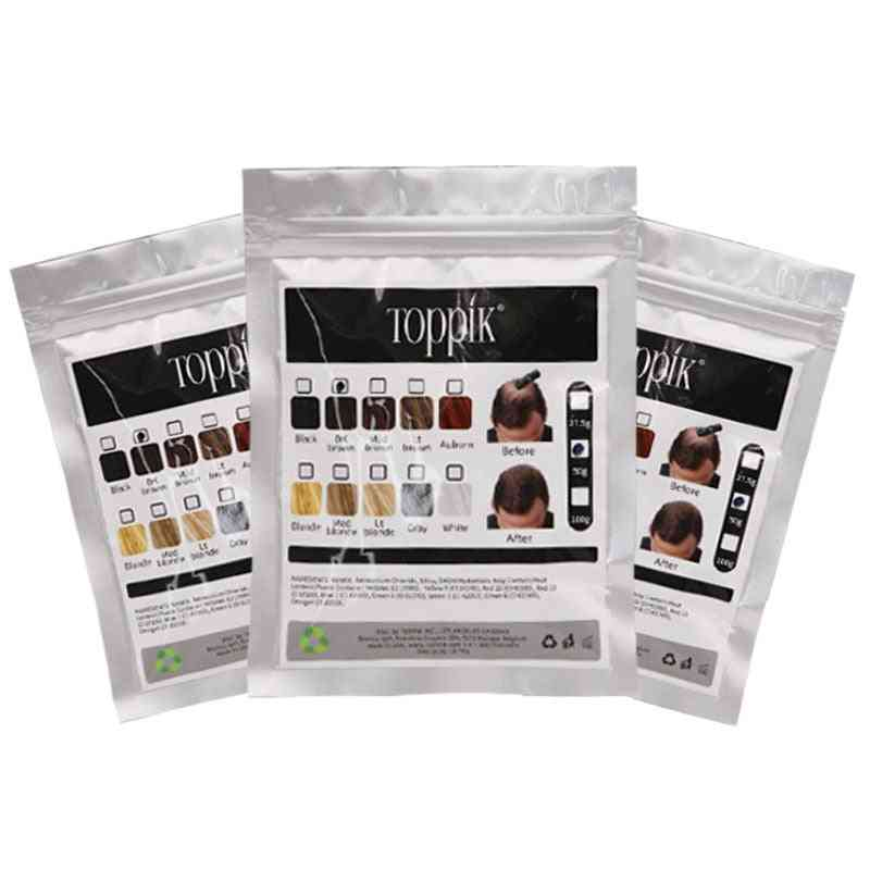 50g Bagged Hair Fiber Powder, Refill Bag Recharge Thick Hair For Multicolor
