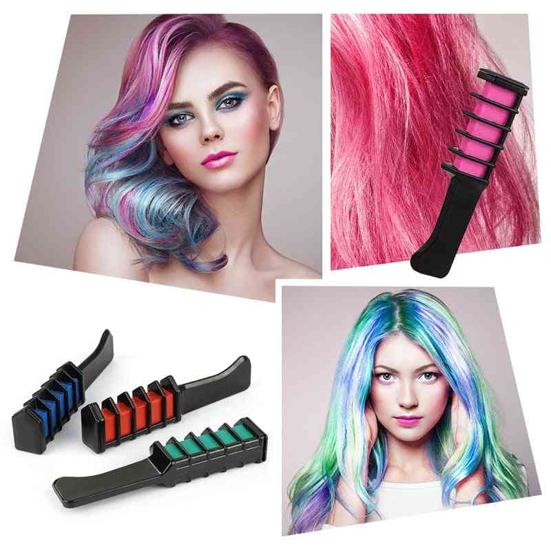 Mini Disposable Hair Color Dye Comb For Personal Salon Temporary Crayons Hair Dyeing Tool