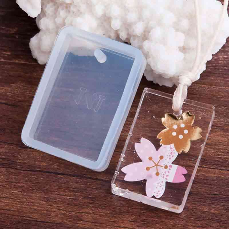 Rectangle Shape White Silicone Resin Mold For Jewelry Making
