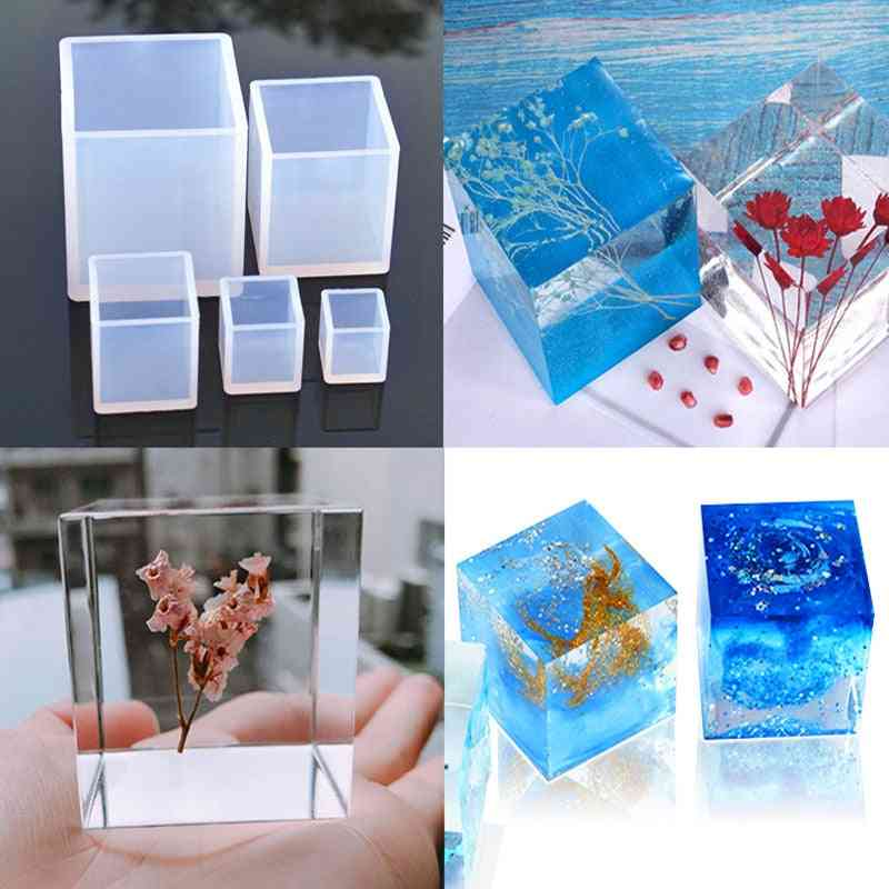 Creative Cube Shape Candle - Soap Making Silicone Mold