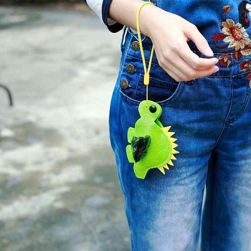 Outdoor Portable Cute Animal Shape Poop Bag Holder - Easy Degradable Pet Poop Bags Dispenser