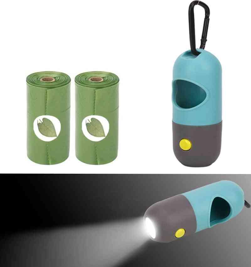 Pet Led Light Degradable Poop Bags/waste Bag Dispenser