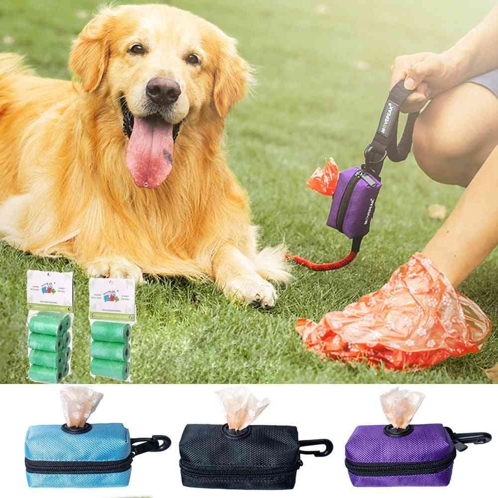 Portable Dog Poop Waste Bag Dispenser Pouch - Outdoor Pet Pick Up Poop Bag Holder