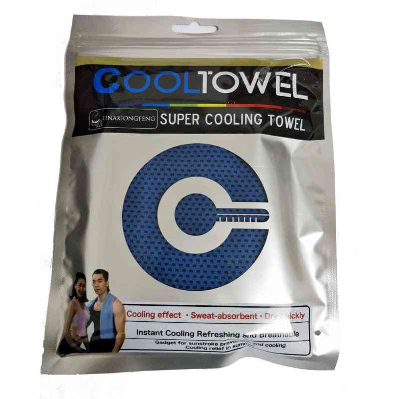 Cool Towel Ice Cold Enduring Running ,jogging, Gym Instant Cooling Outdoor Sports Towel