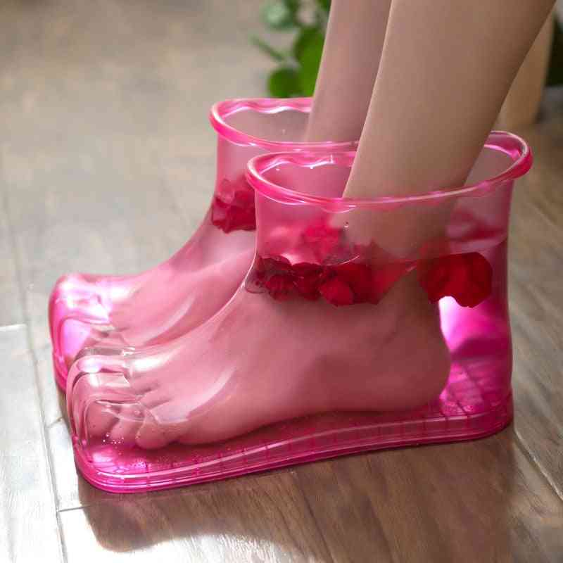Women Foot Soak Bath Therapy Massage Shoes Relaxation Ankle Boots Acupoint Sole Portable Home Feet Care