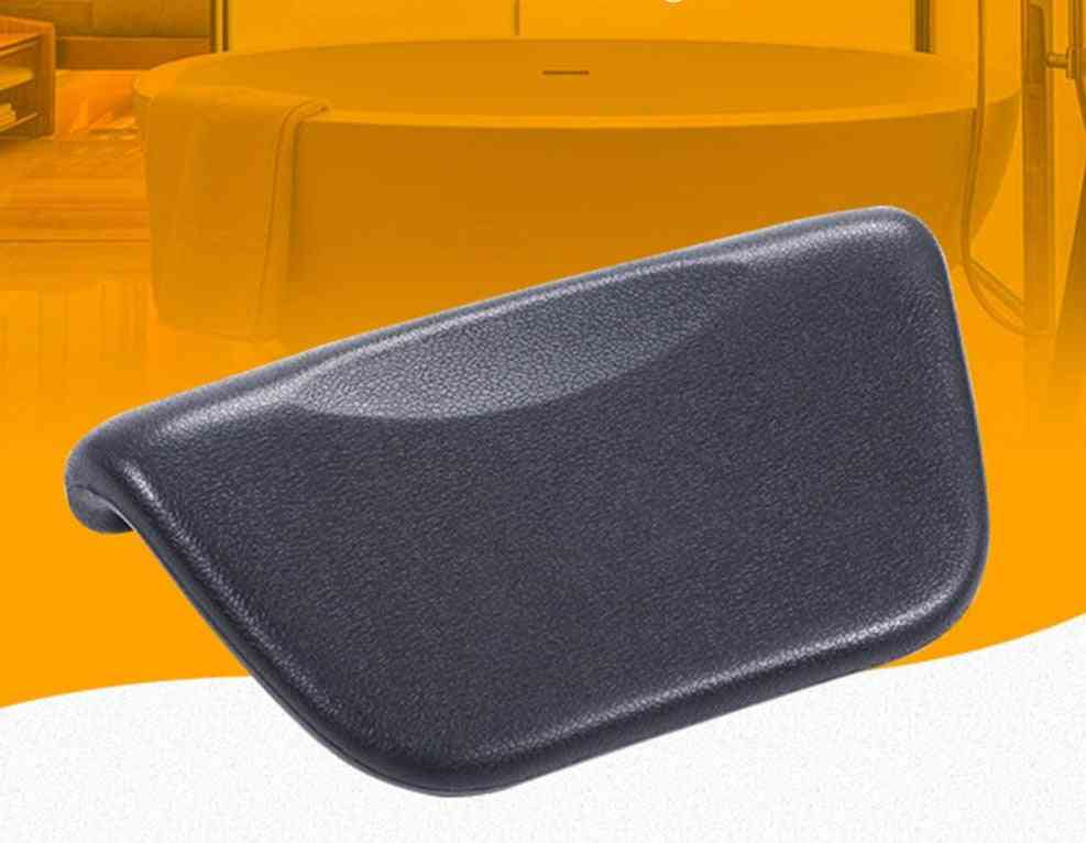Pu Leather, Bath Pillow For Neck Support With Suction Cup