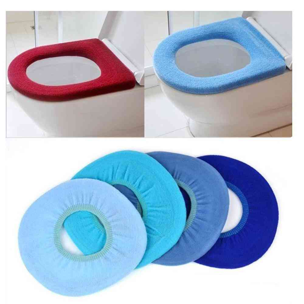 Bathroom Warm Cartoon Soft Closestool Washable Toilet Seat Lid Pad Mat Accessories