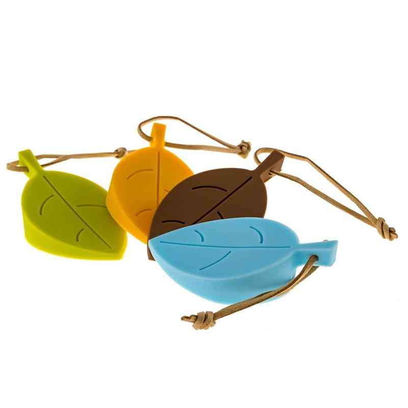 Leaf Style Silicone Door Protect Stopper - Flexible Silicone Door Window Stops With Lanyard