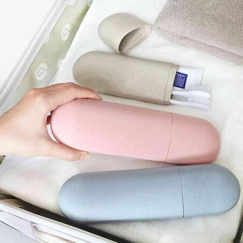 Portable Toothbrush Holder For Travel - Capsule Case Organiser For Cosmetic