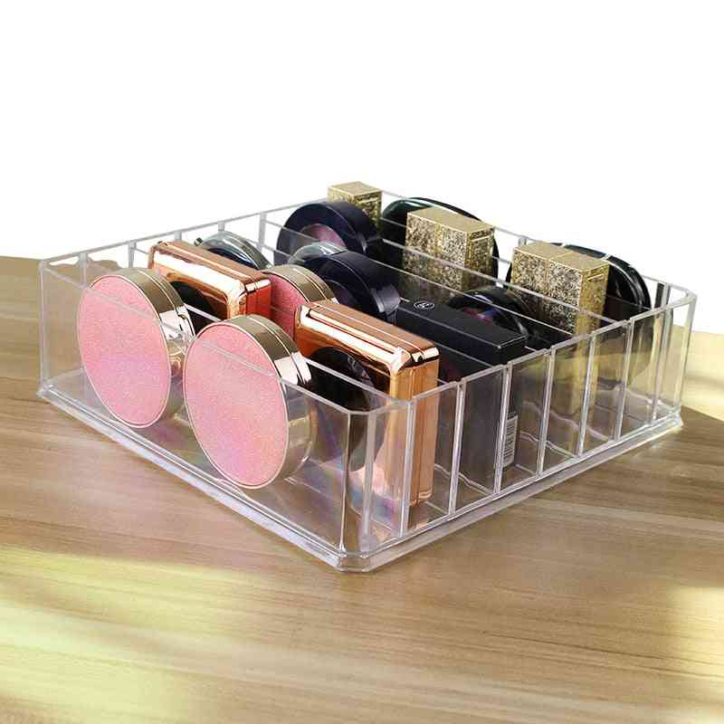 Makeup Organizer Storage Box - Cream Clarity Cosmetic Holder, Vanity Cabinet Powder For Display Shelf