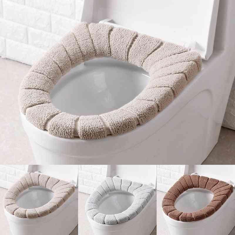 Comfortable, Washable Velvet Toilet Seat Cover