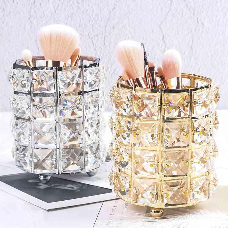 Makeup Brush, Cosmetic, Pencil, Comb - Storage Box / Bucket