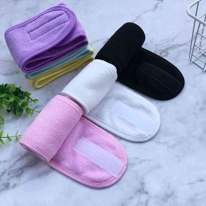 Adjustable Facial Hairband Makeup Head Band Toweling Hair Wrap Shower Caps Stretch Towel Cleaning Cloth Hair Acessories