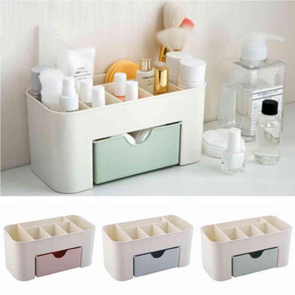 Sub-grid Design, Plastic Storage Box - Cosmetic Display Drawers
