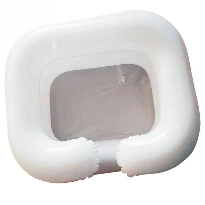 Inflatable Shampoo Basin Tub For The Disabled Portable Hair Washing Basin Handicap Bed Rest Aid Bedridden