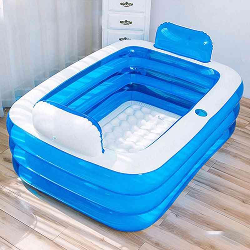 Inflatable Bathtub Home Thickening Folding Barrel