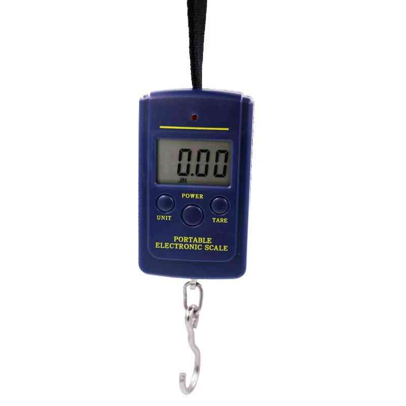Portable Mini Electronic Digital Scale - Hanging Fishing Pocket Weight Balance Steelyard