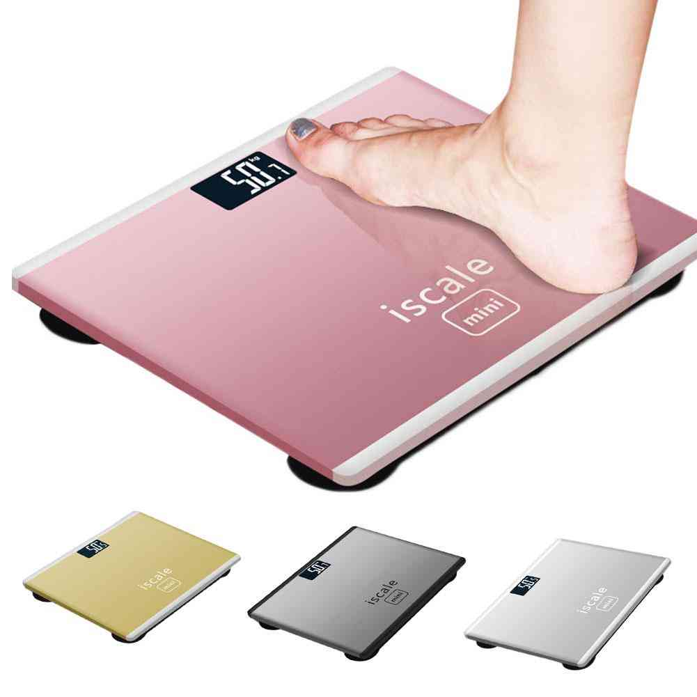 Accurate Smart, Home Bathroom Floor Body Scale With Electronic Glass And Lcd Display