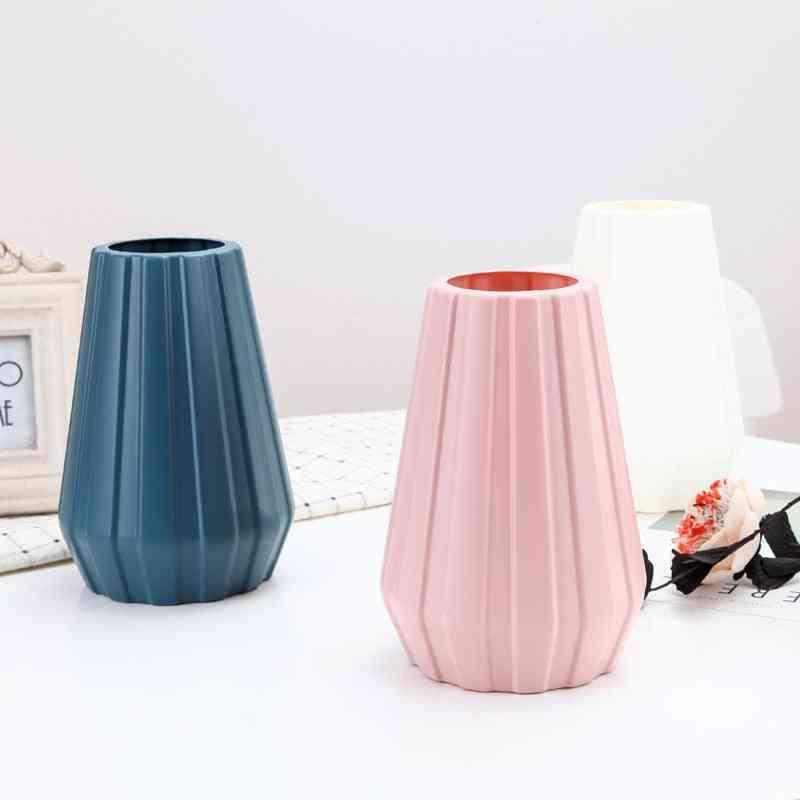 European Style Anti Ceramic Vase Home Decorations - Plastic Vase Shatter-resistant Wedding Decoration