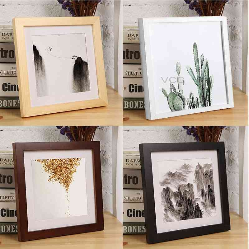 Classic Wooden Square Picture Photo Frame For Wall Hanging Home Decor