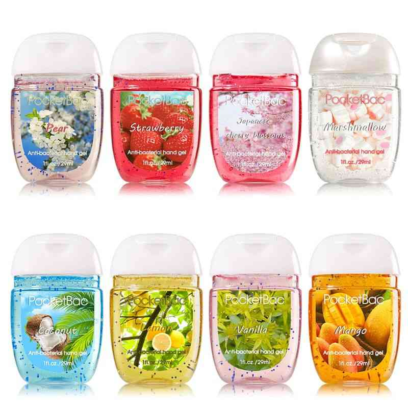 Outdoor Portable Mini Hand Sanitizer, Disposable Cleansing Fluid Clear Bottle