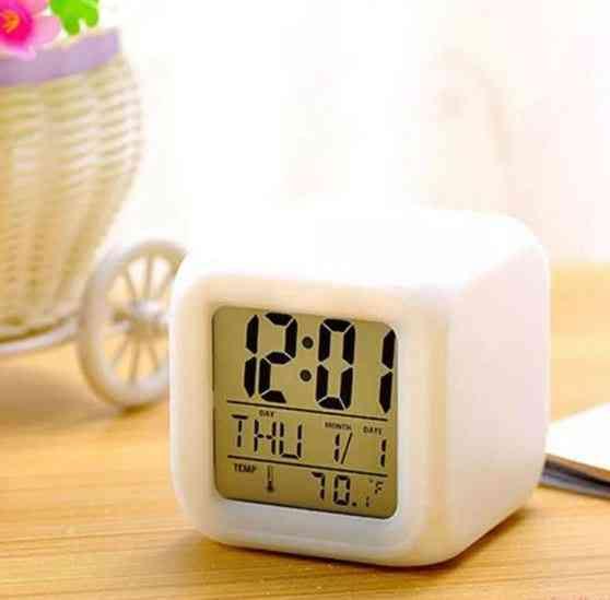 7 Color Led Change Digital Alarm Clock, Night Light