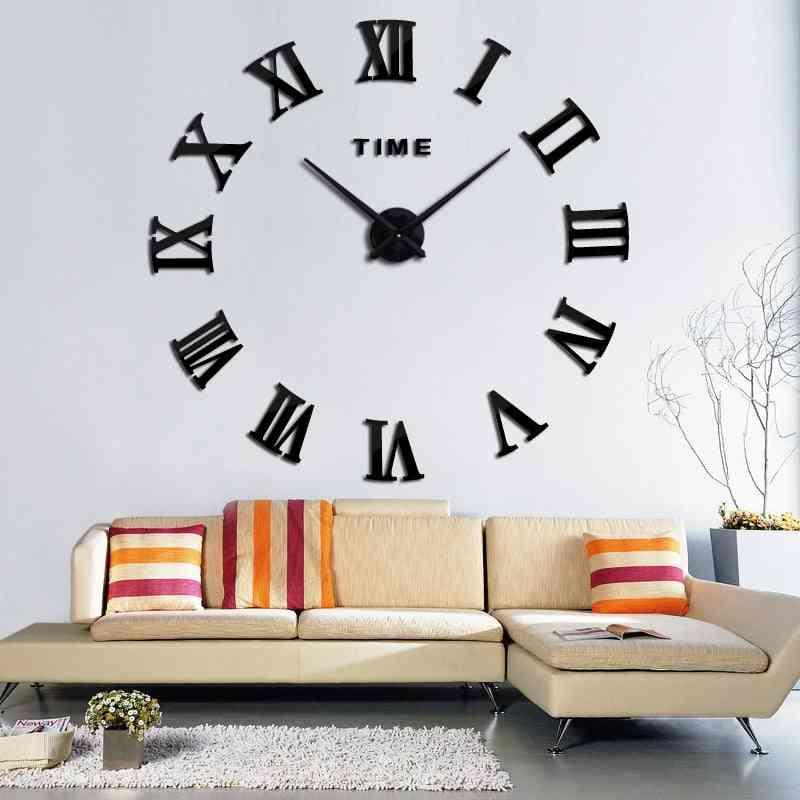 Modern 3d Acrylic Diy Quartz Watch Still Life Clocks Home Decoration Stickers