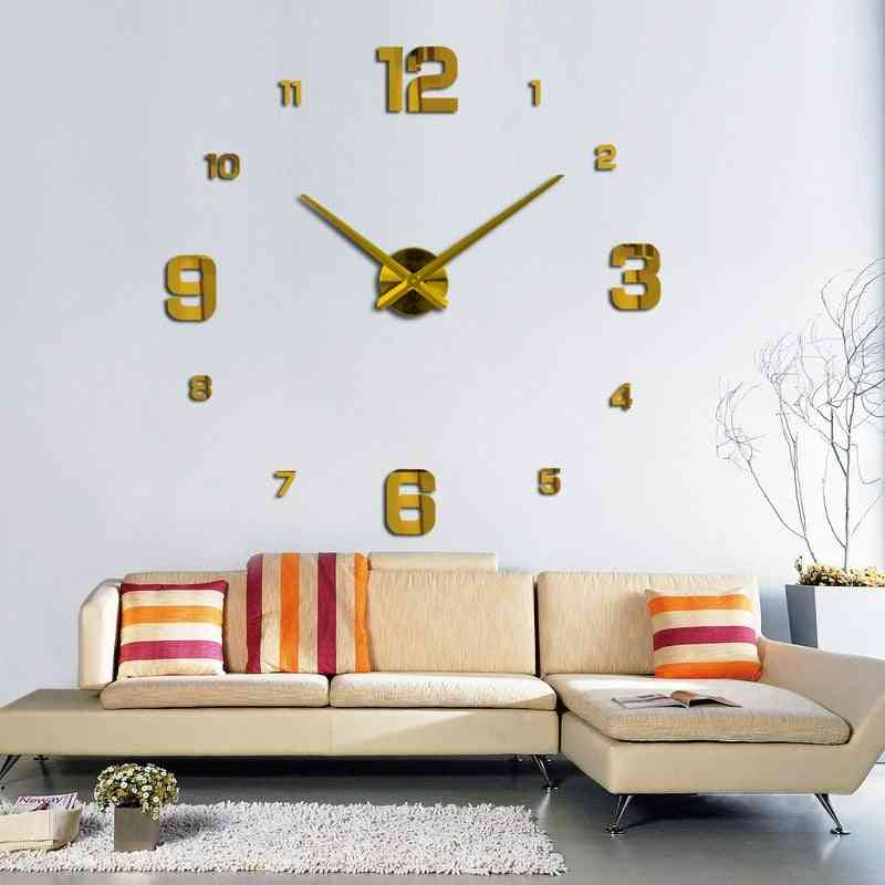 Modern Design Rushed Quartz Super Big Clocks Fashion Watches Mirror Sticker
