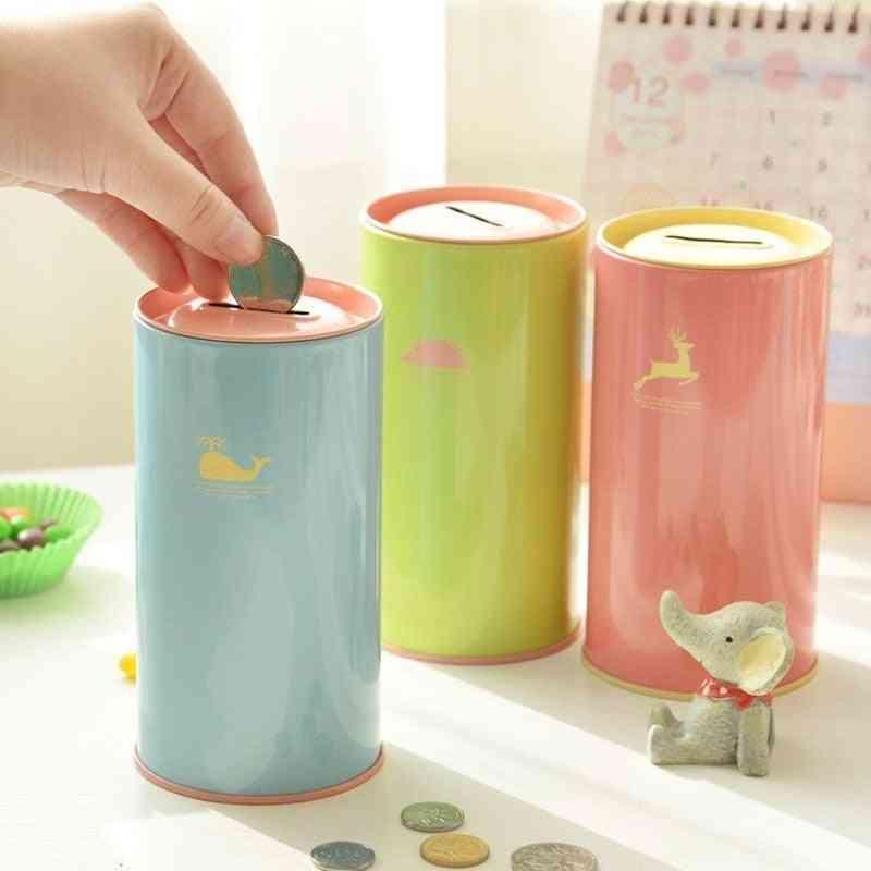 Piggy Bank Metal Money Box, Cute Sundries Cans Storage