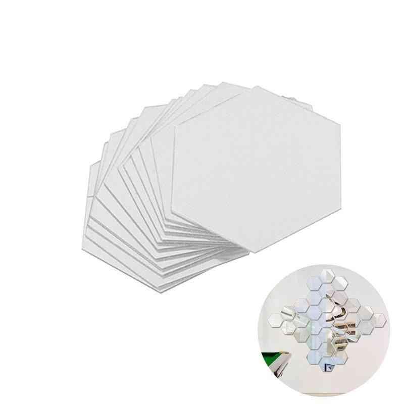 3d Hexagonal Mirrors, Wall Stickers With Modern Art