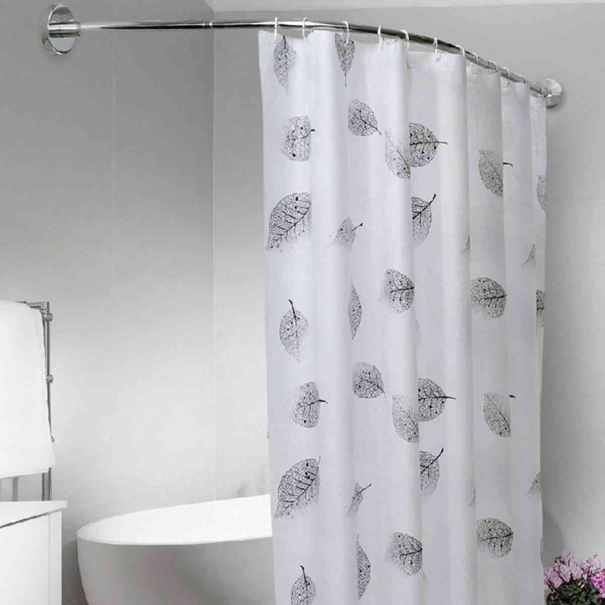 Extendable Curved Shower Curtain Rod U Shaped From Stainless Steel