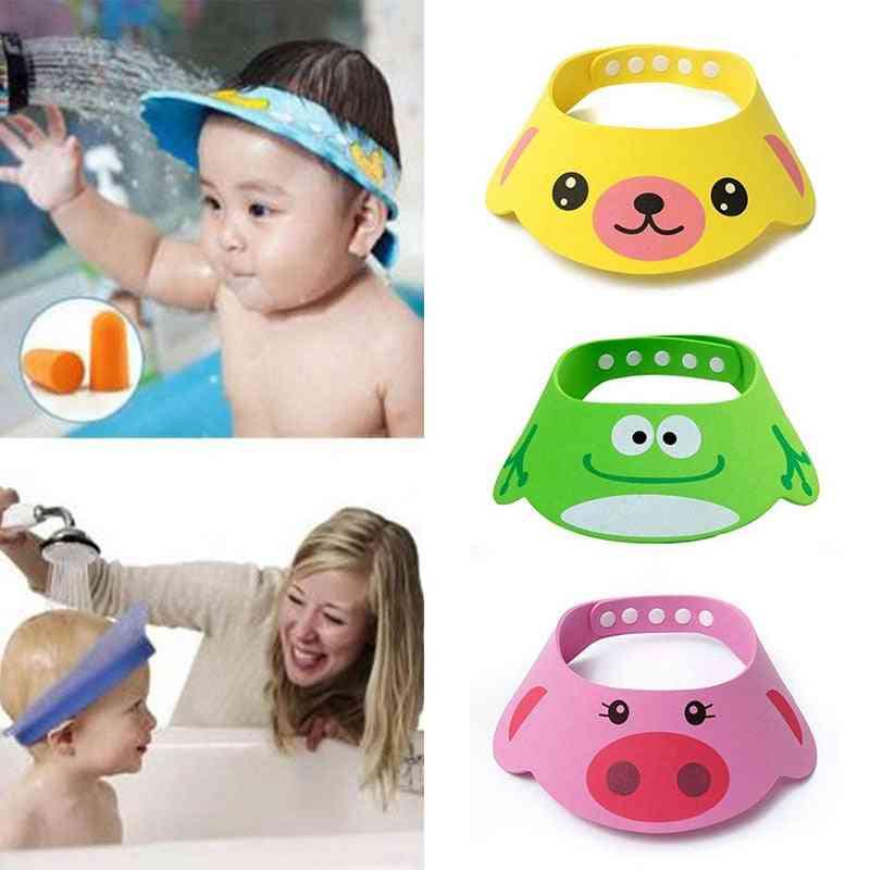 New Kids Bath Visor Hat,adjustable Baby Shower Cap Protect Shampoo, Hair Wash Shield For Infant Waterproof