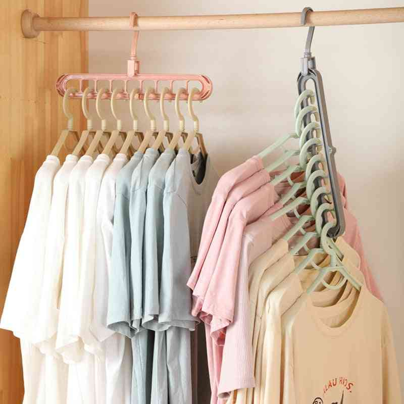 Multi Port Support Storage Hangers, Drying Rack For Clothes