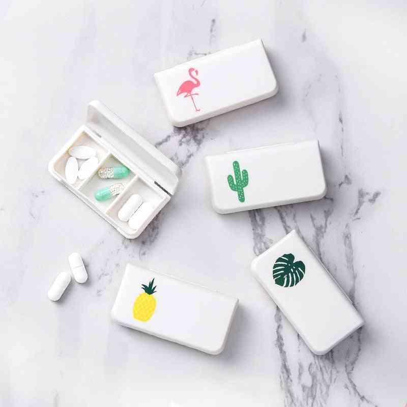 Portable Pill Box, Travel Pill Case Medicine Box, Travel Weekly Medicine Health Travel Case Holder Mini Cute Plastic Pill Box