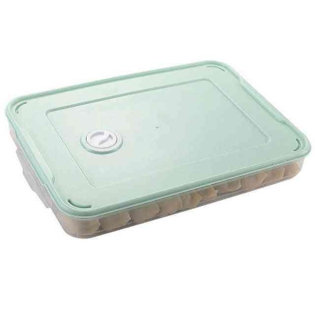 Refrigerator Food Storage Box Kitchen Organizer Fresh Box Dumplings Vegetable Egg Holder Stackable Microwave