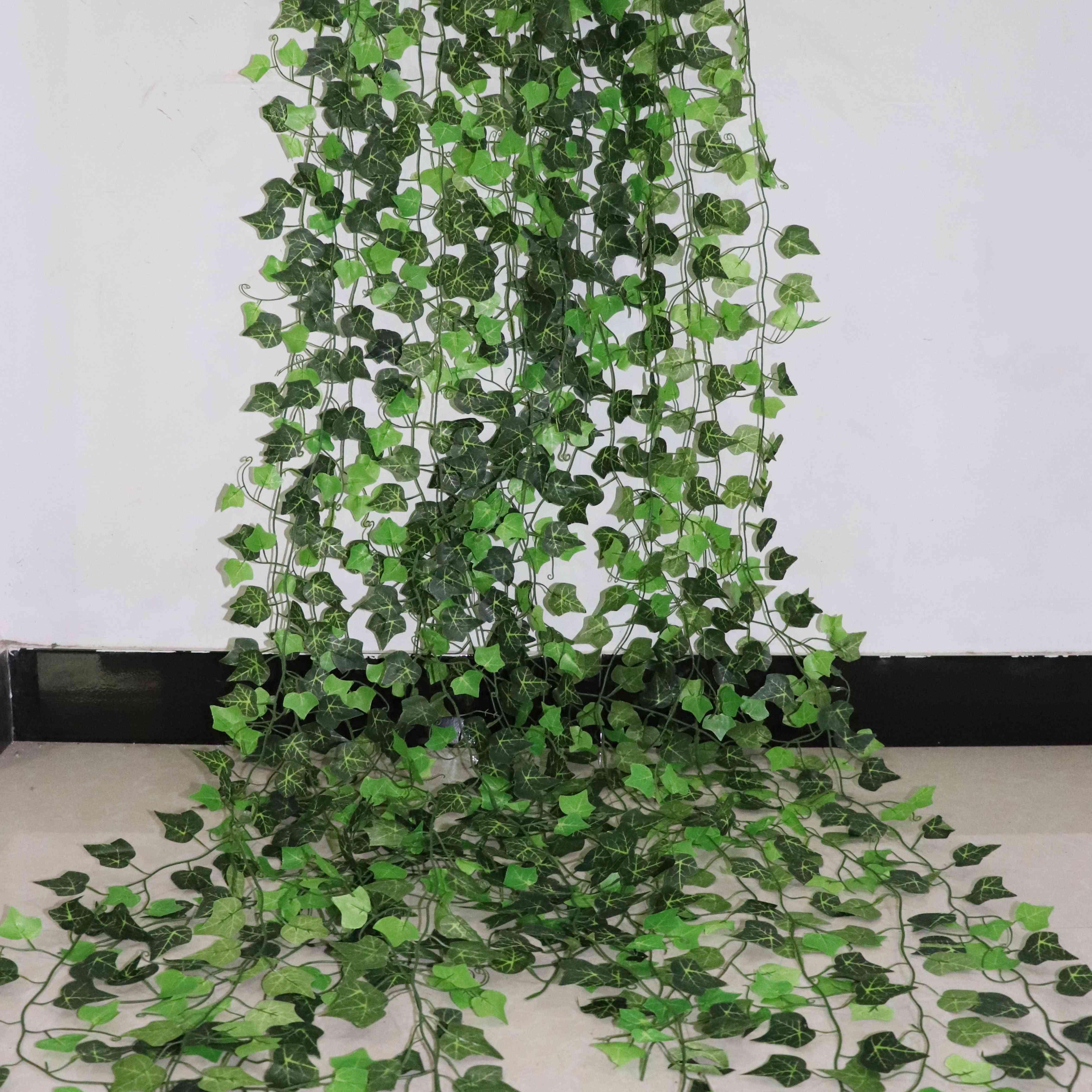 Home Decor Artificial Ivy Leaf Garland Plants - Vine Fake Foliage Flowers