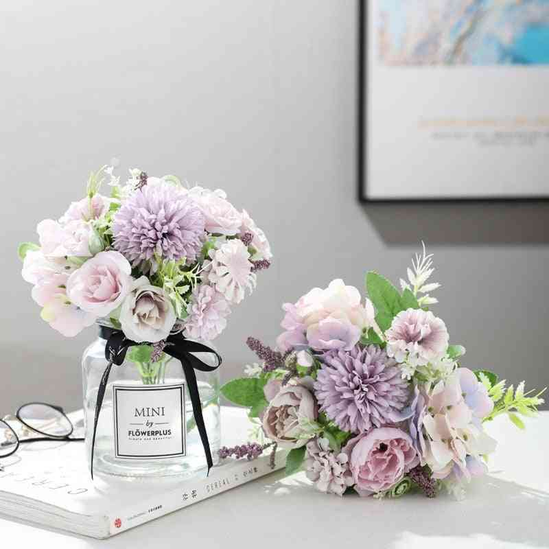 Artificial Silk, Blooming Flowers For Wedding And Decor
