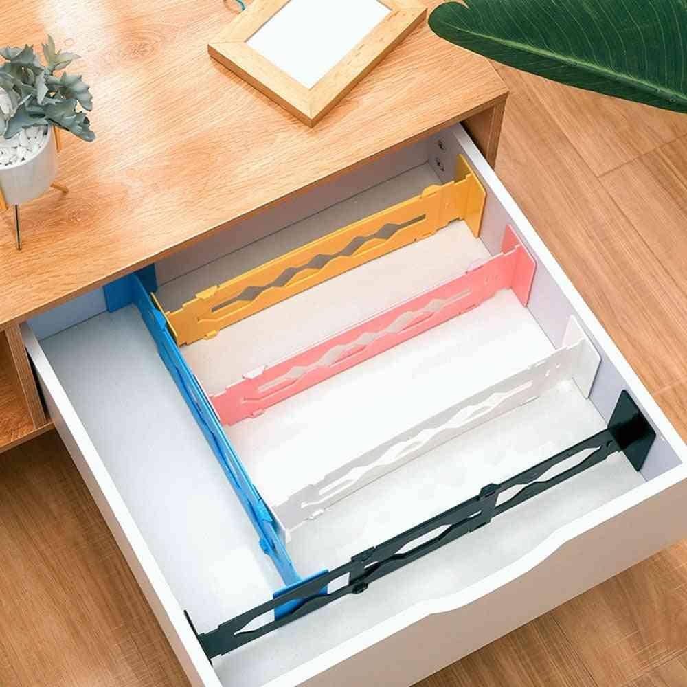 Plastic Adjustable Drawer Dividers Organizer Retractable Stretch Storage Partition Board Multi-purpose Diy Home Office Kitchen