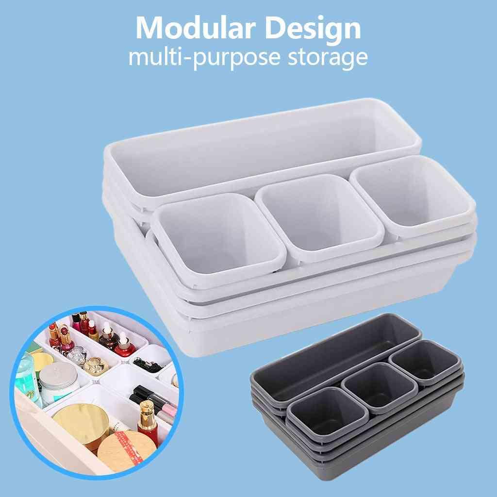 Drawer Organizers Storage Best Interlocking Narrow Drawer Dividers Box Bag For Bathroom Office Kitchen Home Storage Tool