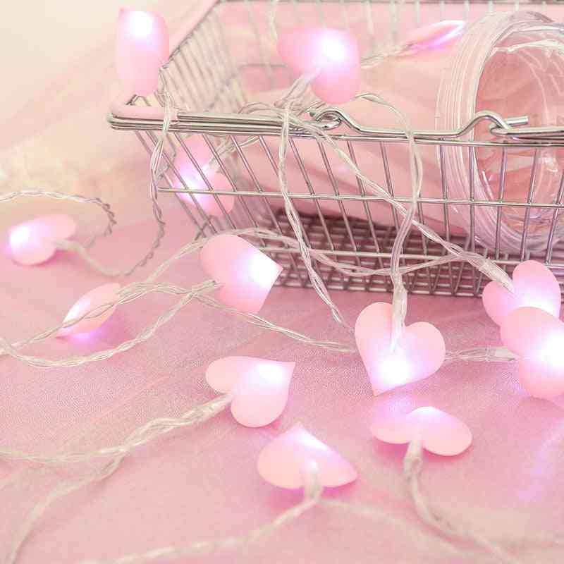 Love Shape, Cotton Light String For New Year, Christmas, Wedding Decoration